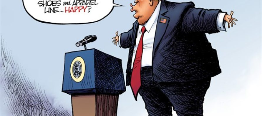 Trump Pumps (Cartoon)