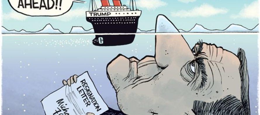 Flynn Resigns (Cartoon)