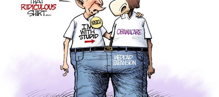 LOCAL OH Kasich Medicaid (Cartoon)