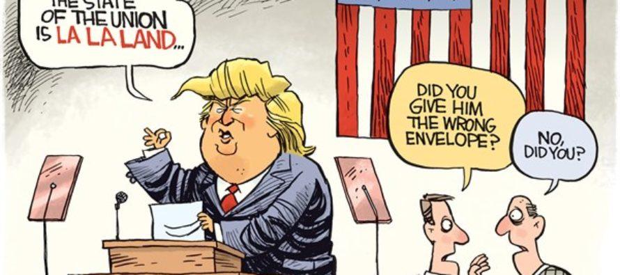 Trump La La Land (Cartoon)