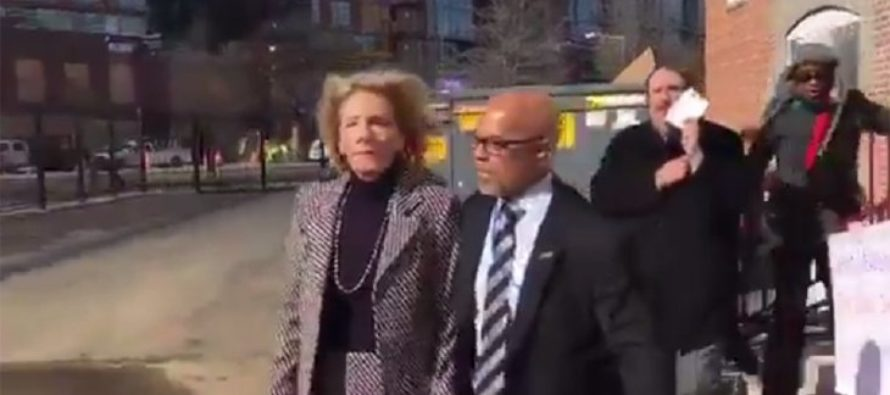 Justice! Refugee From Afghanistan Charged With ASSAULT After Blocking Betsy DeVos At School