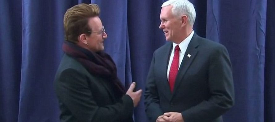 U2's Bono Shocks Fans With Statement on Vice President Pence [VIDEO]