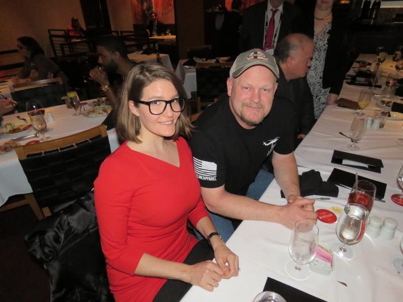 Joe Wurzelbacher & Inez Feltscher at dinner