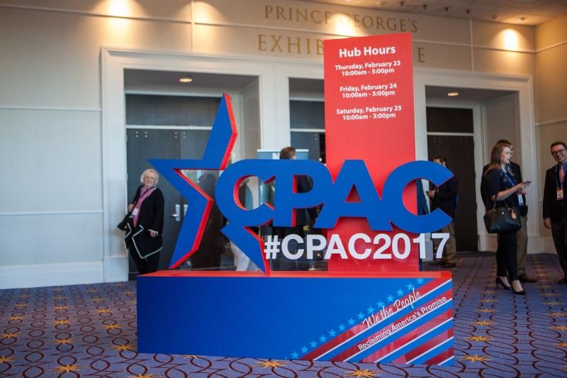 CPAC 2017 sign