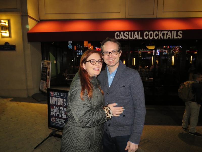 Sean Hackbarth & Alyssa Canobbio outside the RINOCON Party on the night before CPAC