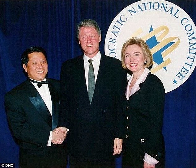 Financial help from foreign governments goes back to a little-talked-about story of Hillary and Bill's relationship with China that began at the Fu Lin Chinese Restaurant in Little Rock, Arkansas during Clinton's days as governor. and their friendship with Charles Yah Lin Trie (above with the Clintons) , a fry cook in the kitchen who eventually became co-owner.