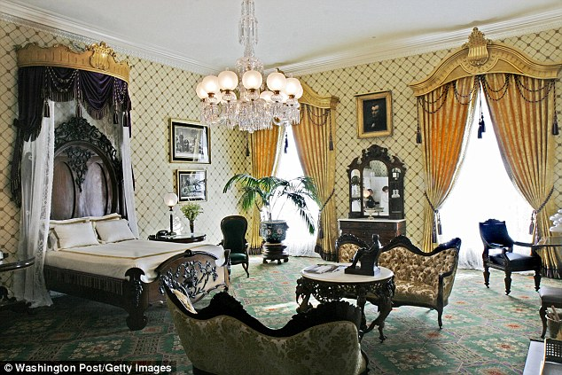 In his new book, presidential historian Doug Wead, details the 'scale of corruption', including how the Clintons 'sold sleepovers' in the Lincoln Bedroom at the White House (pictured) for up to $400,000.