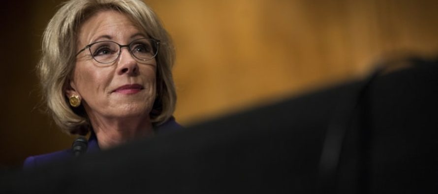 Betsy DeVos Couldn't Help Herself, Despite Protesters She TWEETS This – Libs Heads SPINNING!