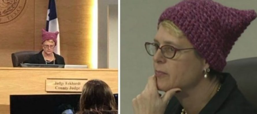 "County Judge Who Wore ""Pu**y"" Hat To Court Just Got SCHOOLED! [VIDEO]"