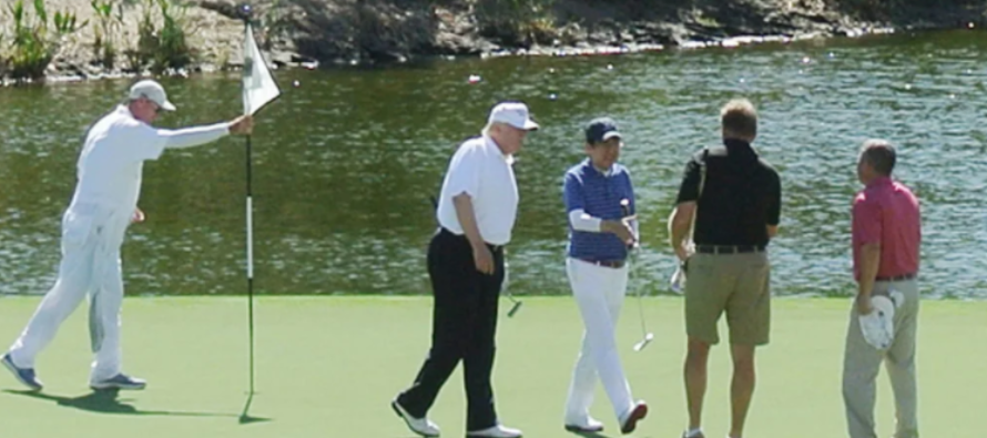 What Donald Trump Forced the Press Corp Following Him to the Golf Course to Do is Hilarious!