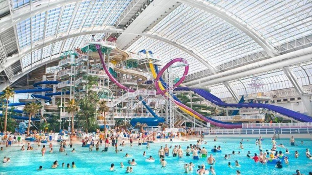 A man was charged with six counts of sexual assault and six counts of sexual interference after complaints from teenage girls at West Edmonton Mall water park on Saturday. (Facebook/West Edmonton Mall)