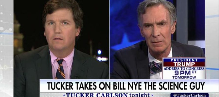 Smug Bill Nye Appears on Tucker Carlson's Show… REGRETS IT IMMEDIATELY! [VIDEO]