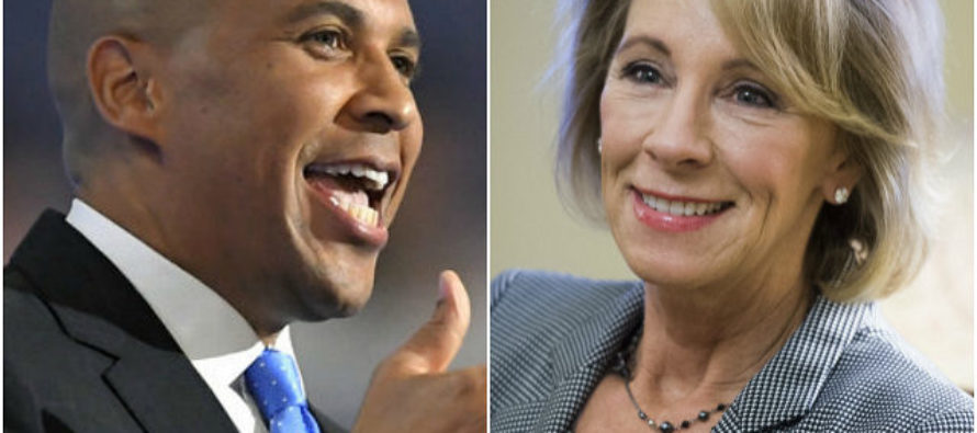 Cory Booker bashed DeVos, then Twitter reveals the shocking TRUTH about him!