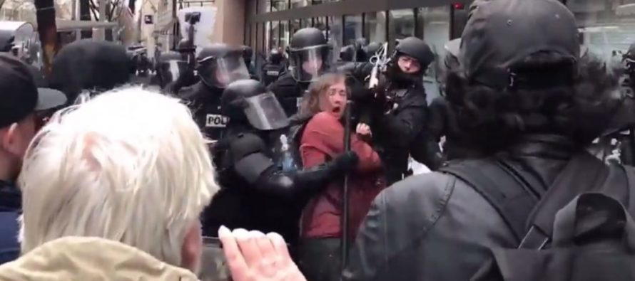Protester Disrespects Police – Learns The Hard Way They Are Allowed To Fight Back [VIDEO]