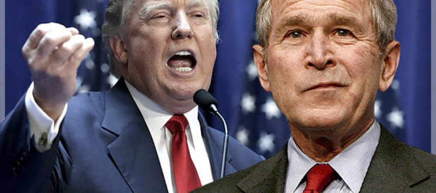 George Bush Gets A Load Of Trump's Plan For ISIS – Releases STUNNING 3 Word Statement [VIDEO]