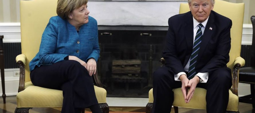 Trump Allegedly Handed Angela Merkel An 'Invoice' For NATO Expenses