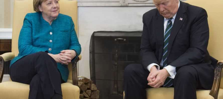 Merkel meets Trump at White House, what they DIDN'T do has media going BONKERS [VIDEO]