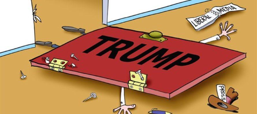 Trump Crushes Media (Cartoon)