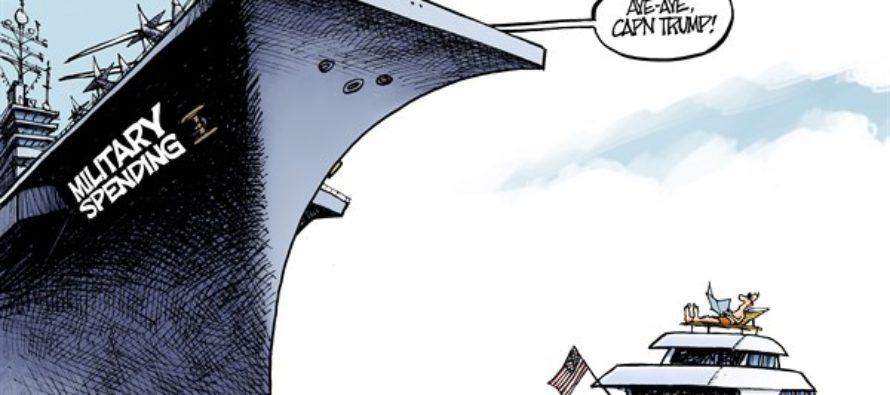 Trump Budget (Cartoon)