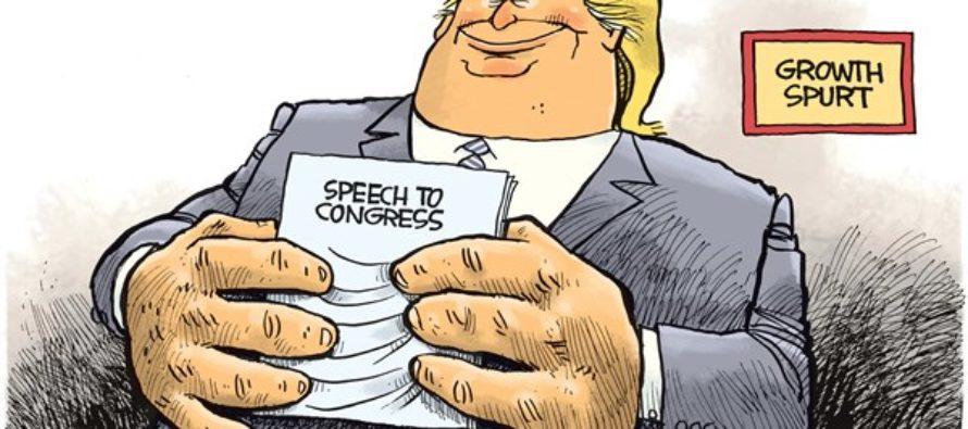 Trump Growth Spurt (Cartoon)