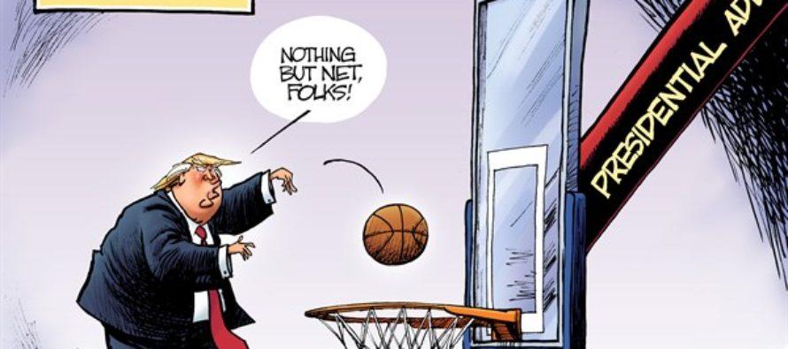 Trump Address (Cartoon)
