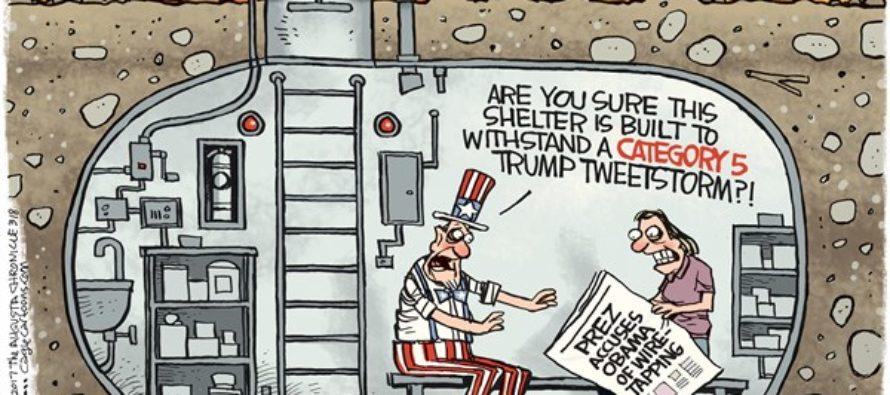Trump Shelter (Cartoon)