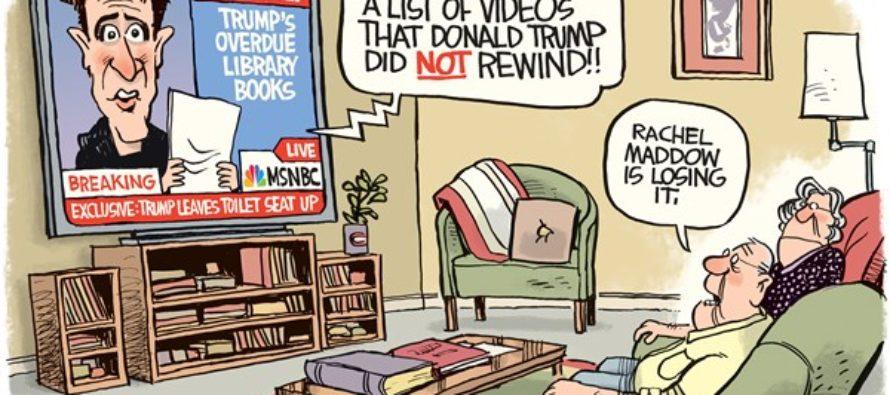 Maddow Loses It (Cartoon)