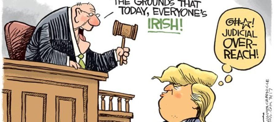 St Patricks Travel Ban (Cartoon)