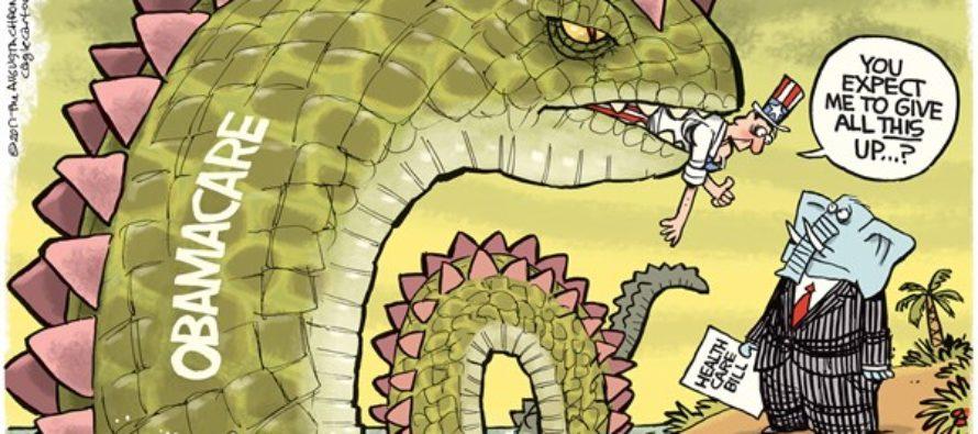 Obamacare Monster (Cartoon)