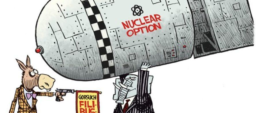 Gorsuch Nuclear Option (Cartoon)
