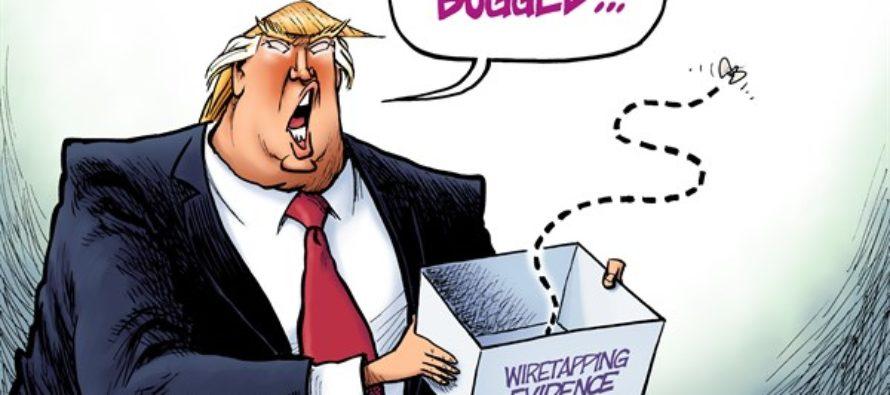 Trump Bugged (Cartoon)