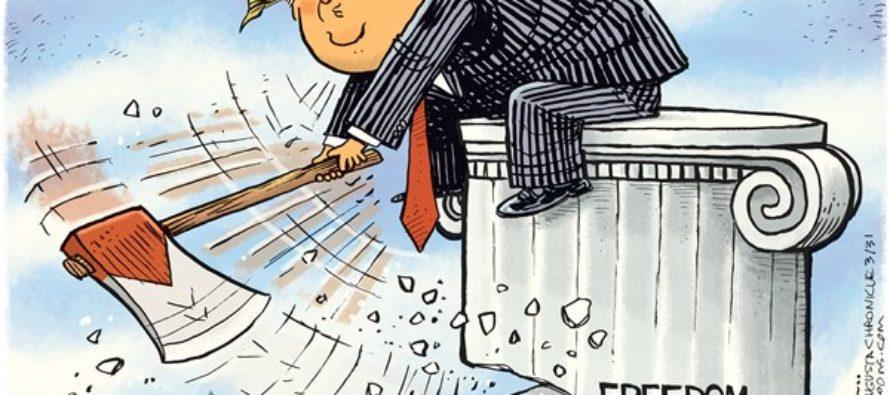 Trump Attacks GOP (Cartoon)
