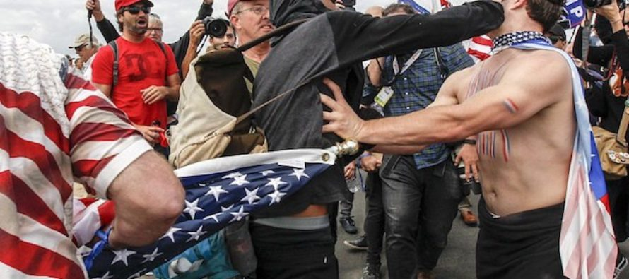 As Trump Supporters Rally To Raise Money For Homeless Vets…The Anarchists ATTACK Them! [VIDEO]
