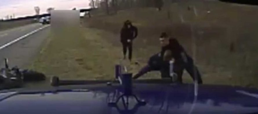 Good Samaritan SAVES Police Officer In Distress After Another Motorist Tries To Stop ARREST [WATCH]