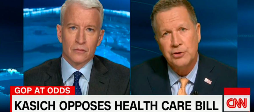 RINO Kasich 'Hopes' GOP Healthcare Bill FALLS SHORT, Wishes Dems To Have More Power… [WATCH]