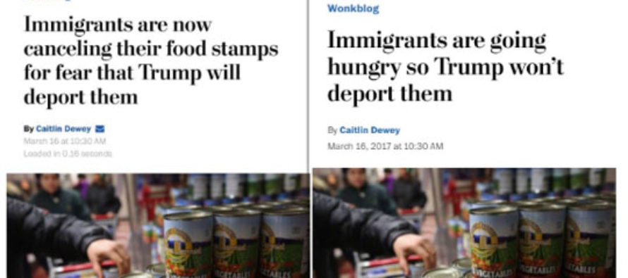 WaPo Alters Headline to Maximize Bleeding Heart Spin, Detract From the Actual Issue