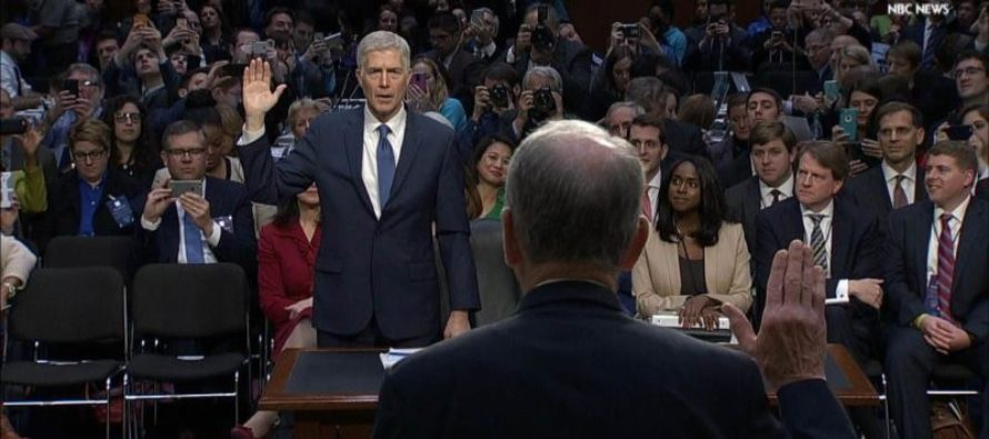 WATCH: Gorsuch Delivers POWERFUL Opening Statement – The Crowd Gets EMOTIONAL!