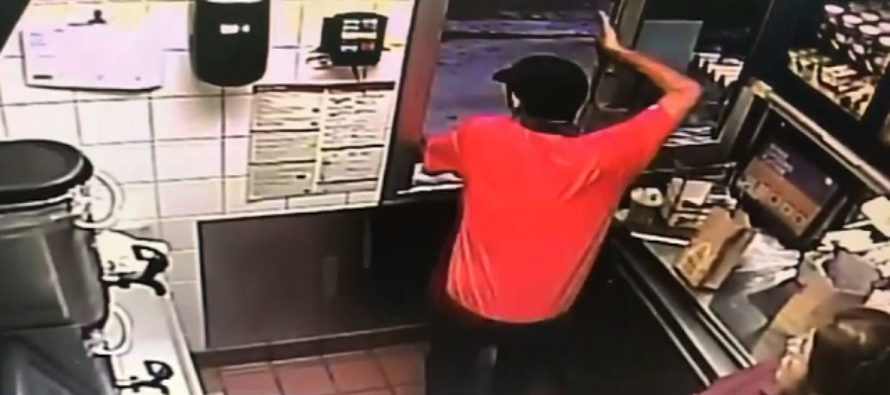 HERO: McDonald's Worker Jumps Through Drive-Thru Window to Save a Cop's LIFE! [VIDEO]