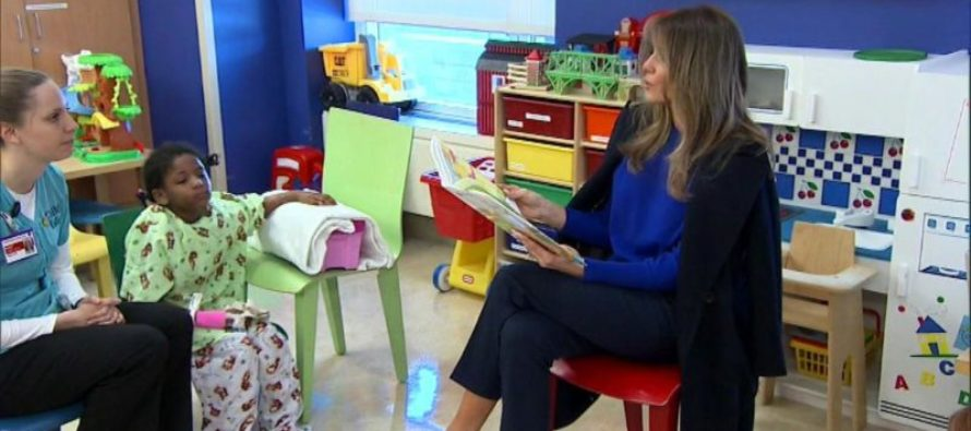 Melania Visits Children's Hospital and What She Chose to Read the Kids Will Make You SMILE! [VIDEO]