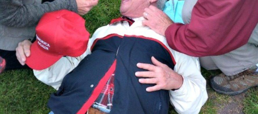 Elderly man pepper sprayed when Democrats attack pro-Trump rally