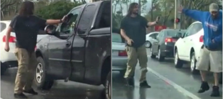 ROAD RAGE: Man Smashes Truck Window – Then He Does the Unthinkable… [VIDEO]