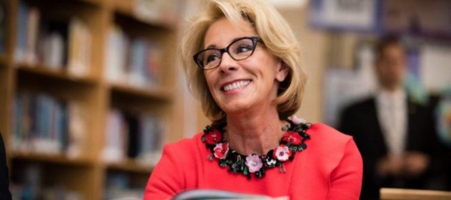 BOOM! Trump's Education Secretary Just Stuck It To Obama!