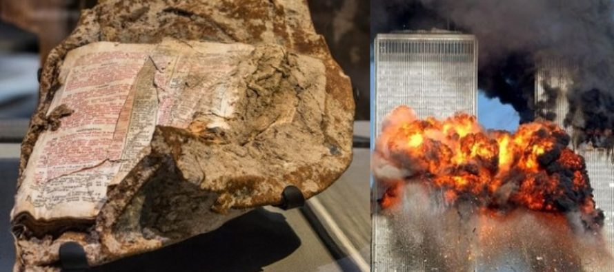 Page of Bible Fused to Steel on 9/11 World Trade Center – Look at What Verse It Is…