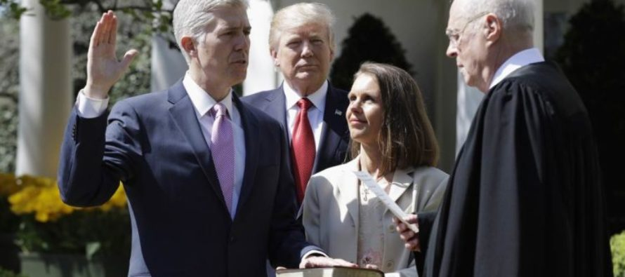WATCH: What Happened IMMEDIATELY After Gorsuch Was Sworn In