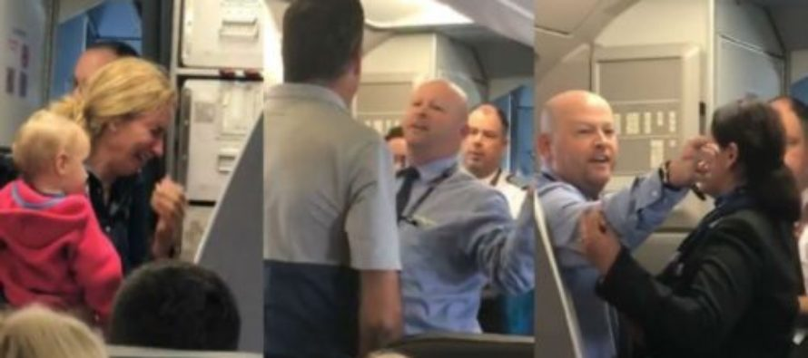 Not Again! American Airlines Employee And Passenger THREATEN Each Other Over Crying Woman [VIDEO]