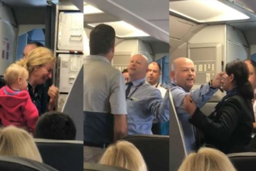Not Again! American Airlines Employee And Passenger THREATEN Each Other Over Crying Woman