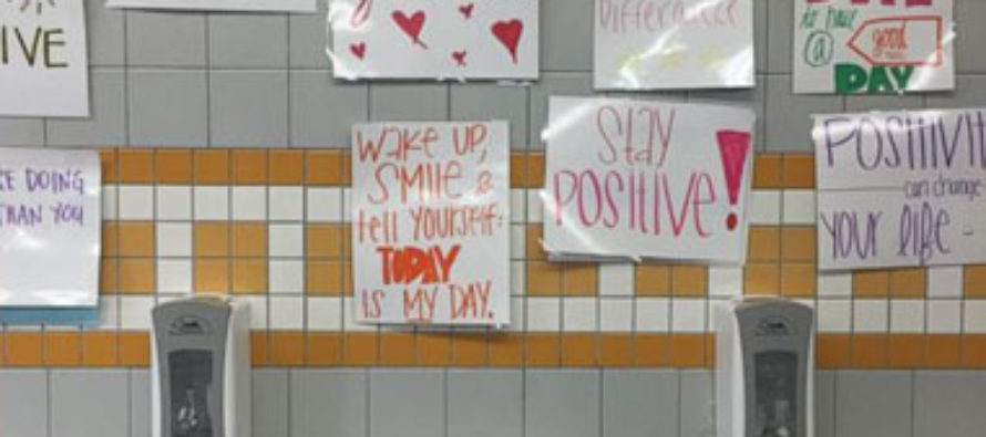 High School Replaces Bathroom Mirrors With Empty Affirmations