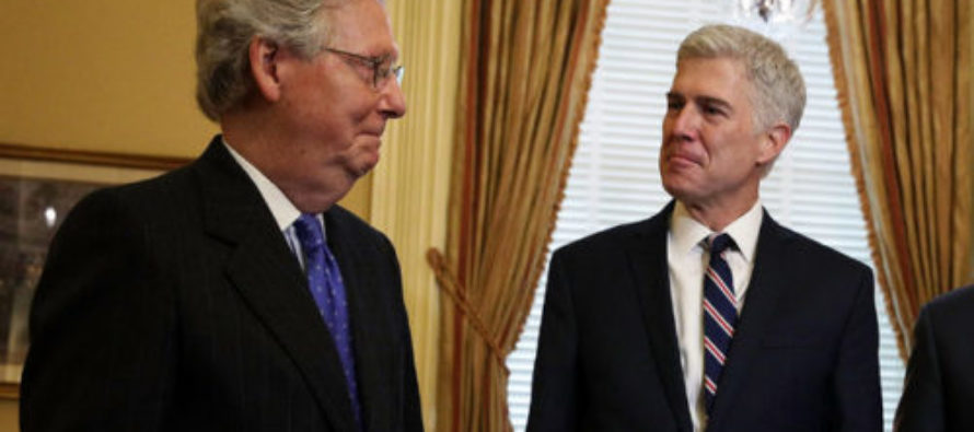 McConnell Drops A Bomb On The Left: We're Going To Confirm Gorsuch This Week [VIDEO]