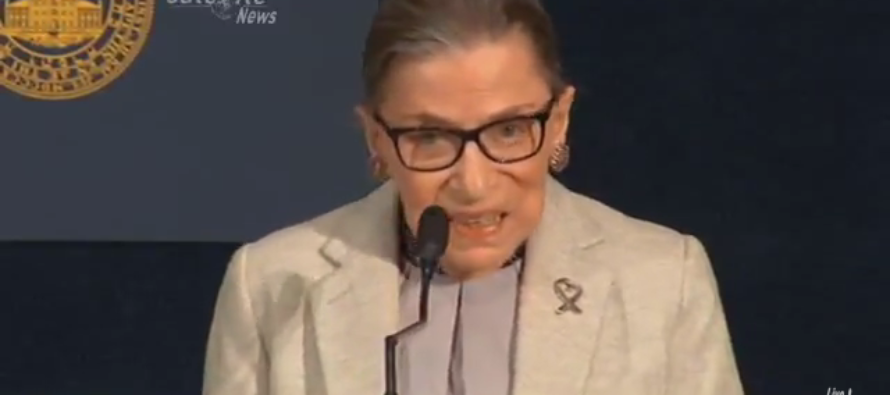 VIDEO: Ruth Bader Ginsburg Refers to Lindsey Graham as One of 'the Women of the Senate'