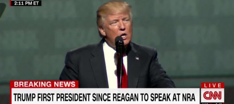 """WATCH: President Trump RIPS On """"Pocahontas"""" During NRA Speech And It's AWESOME!"""